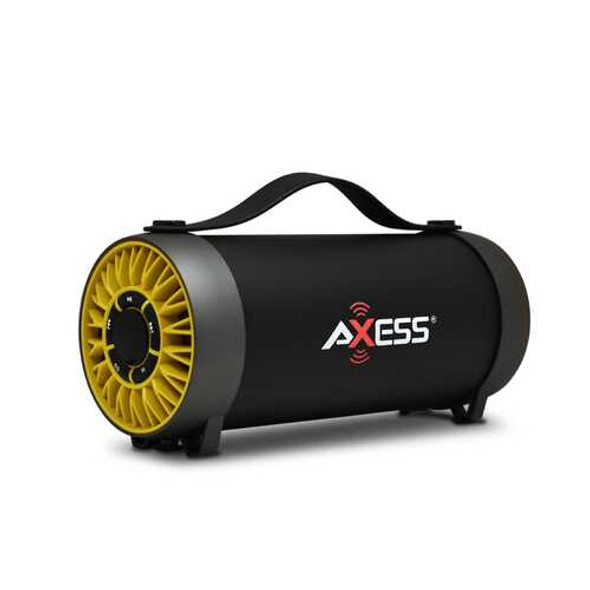 Axess Bluetooth Media Speaker with Equalizer in Yellow