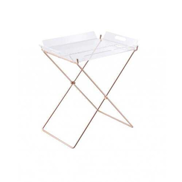 Modern Clear Acrylic Copper Tray Table