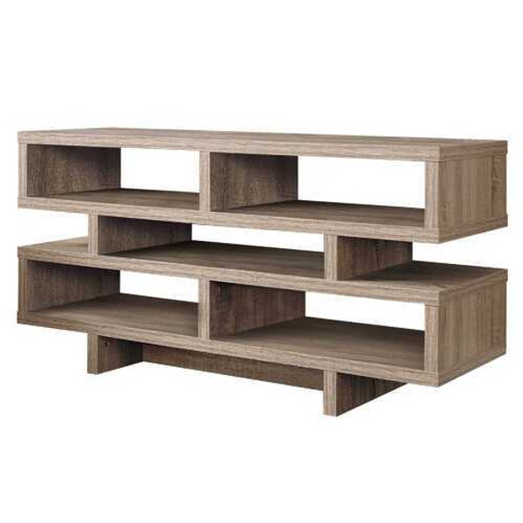"""15.5"""" x 47.25"""" x 23.75"""" Dark Taupe Particle Board Hollow Core  TV Stand"""