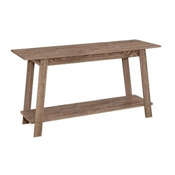 """15.75"""" x 42"""" x 22.5"""" Dark Taupe Particle Board Laminate TV Stand"""