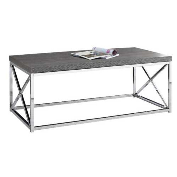 X Trestle Gray and Chrome Coffee Table