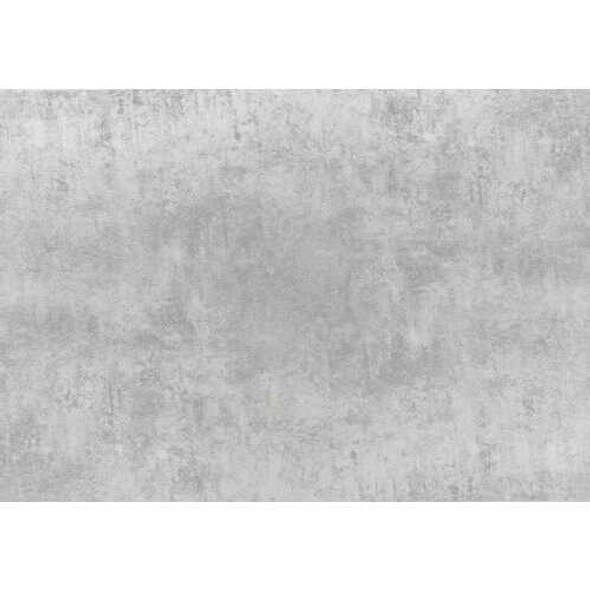 """17"""" Grey Cement Particle Board Laminate and Chrome Metal Coffee Table"""