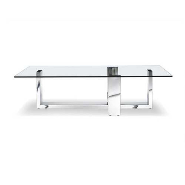 """59"""" X 28"""" X 16"""" Clear Glass Coffee Table"""