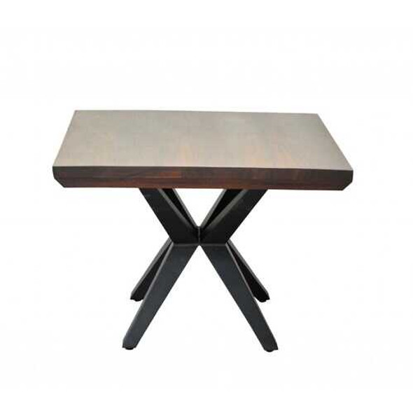 Contemporary Dark Acacia Black Inverted Frame End or Side table