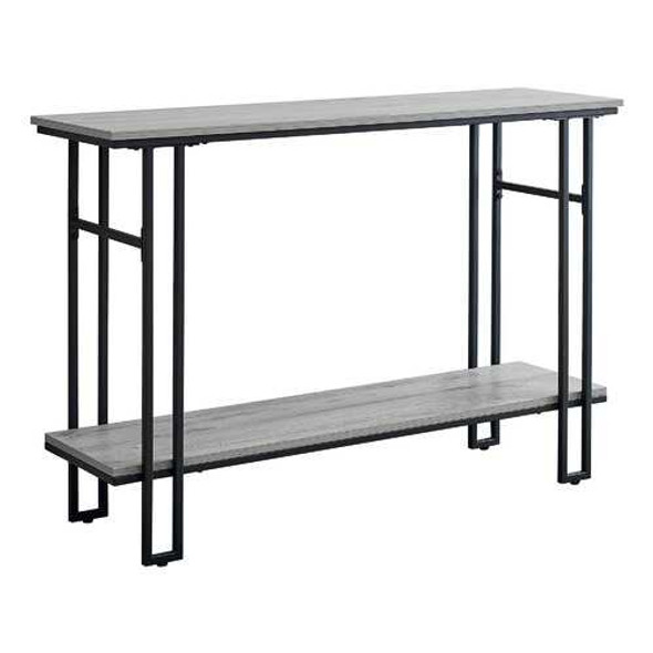"""48"""" Rectangular GreywithBlack Metal Hall Console Accent Table"""