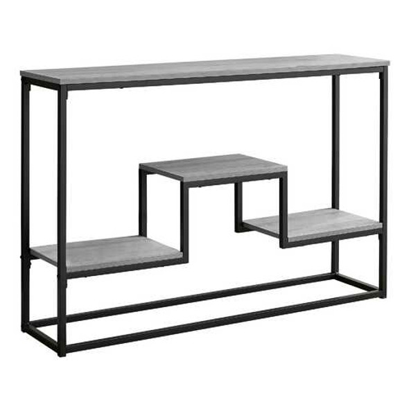 """48"""" Rectangular Grey Wash Finish Hall Console Accent Table"""