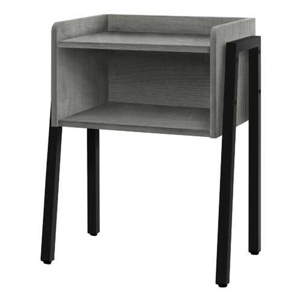 """23"""" Rectangular Grey and Black Metal Accent Table"""