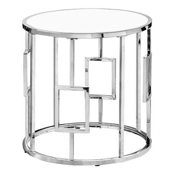 Chrome Metal with Tempered Glass Accent Table