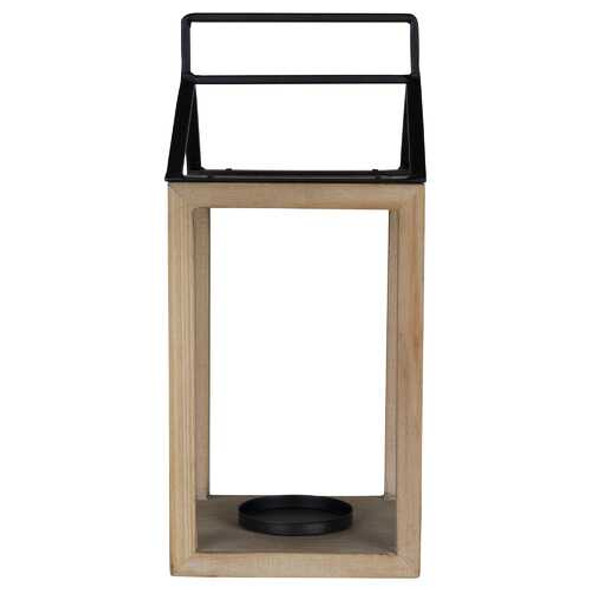 Open House Wood and Metal Lantern Candle Holder