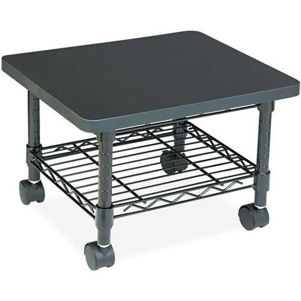 Mobile Under Desk Home Office Fax / Printer Stand Cart with Shelf