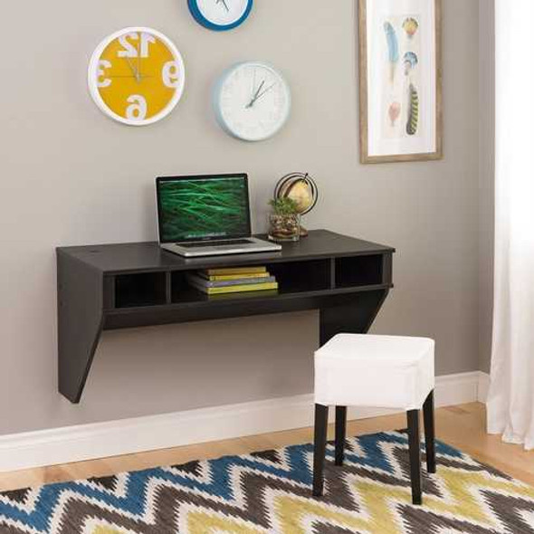 Contemporary Space Saver Floating Style Laptop Desk in Black