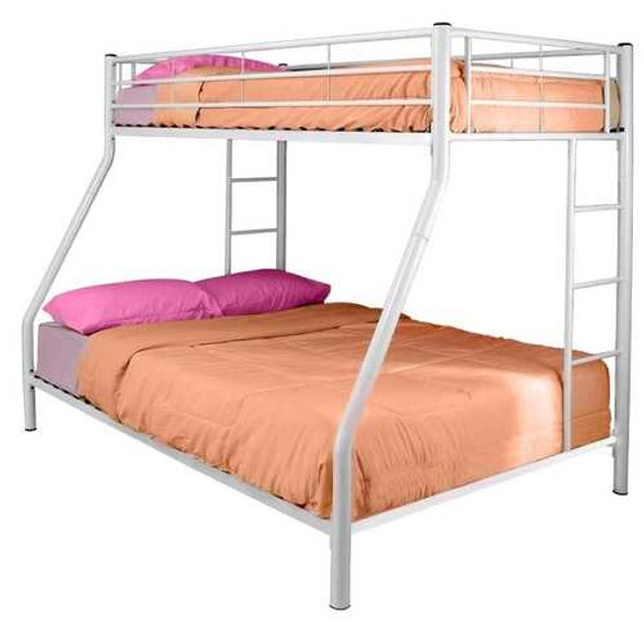 White Metal Twin over Full Bunk Bed