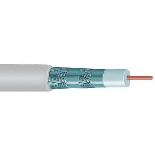 VEXTRA(R) V621QWB Quad Shield RG6 Solid Copper Coaxial Cable, 1,000ft (White)