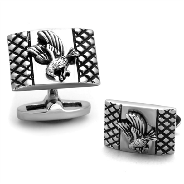 TK1655 - Stainless Steel Cufflink High polished (no plating) Men No Stone No Stone