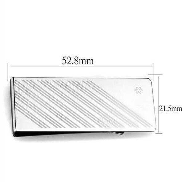 TK2079 - Stainless Steel Money clip High polished (no plating) Men No Stone No Stone