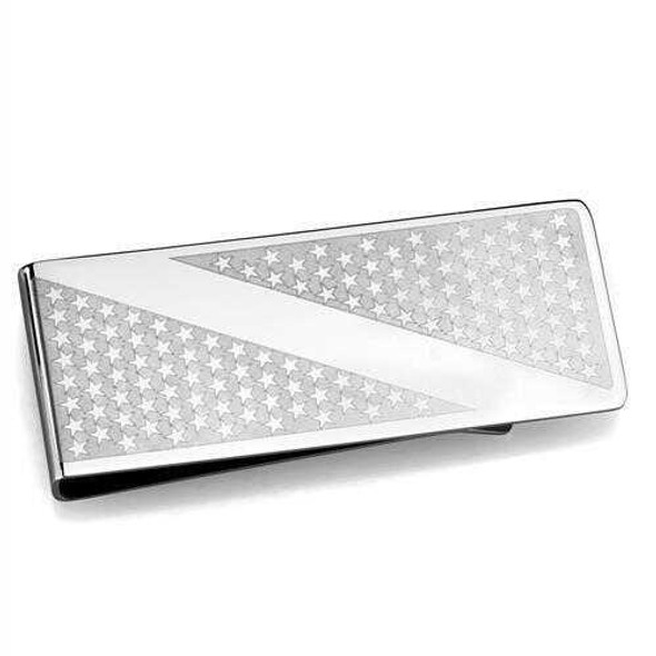 TK2080 - Stainless Steel Money clip High polished (no plating) Men No Stone No Stone