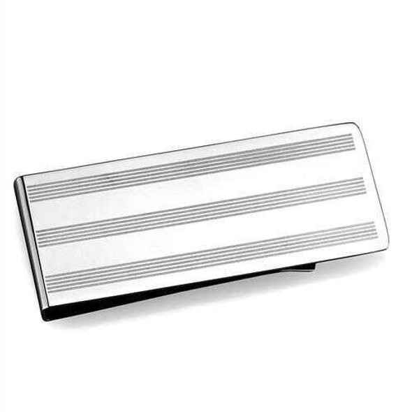 TK2081 - Stainless Steel Money clip High polished (no plating) Men No Stone No Stone