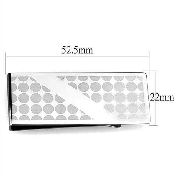 TK2082 - Stainless Steel Money clip High polished (no plating) Men No Stone No Stone