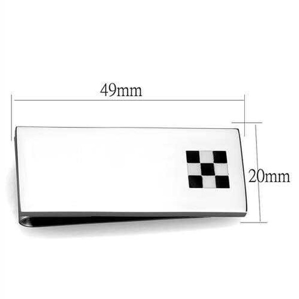 TK2084 - Stainless Steel Money clip High polished (no plating) Men No Stone No Stone