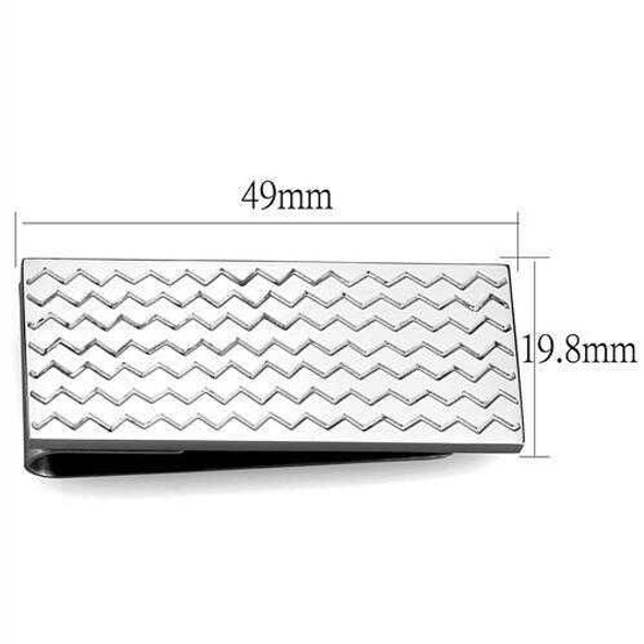 TK2087 - Stainless Steel Money clip High polished (no plating) Men No Stone No Stone