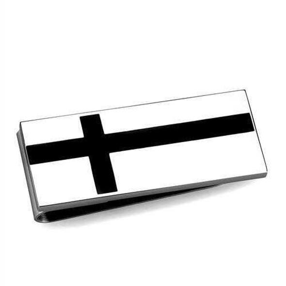 TK2090 - Stainless Steel Money clip High polished (no plating) Men No Stone No Stone