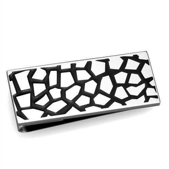 TK2091 - Stainless Steel Money clip High polished (no plating) Men No Stone No Stone
