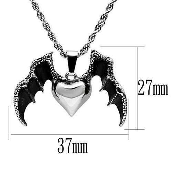 TK549 - Stainless Steel Chain Pendant High polished (no plating) Men No Stone No Stone