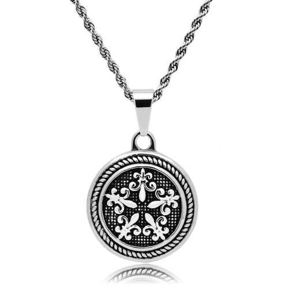 TK551 - Stainless Steel Chain Pendant High polished (no plating) Men No Stone No Stone