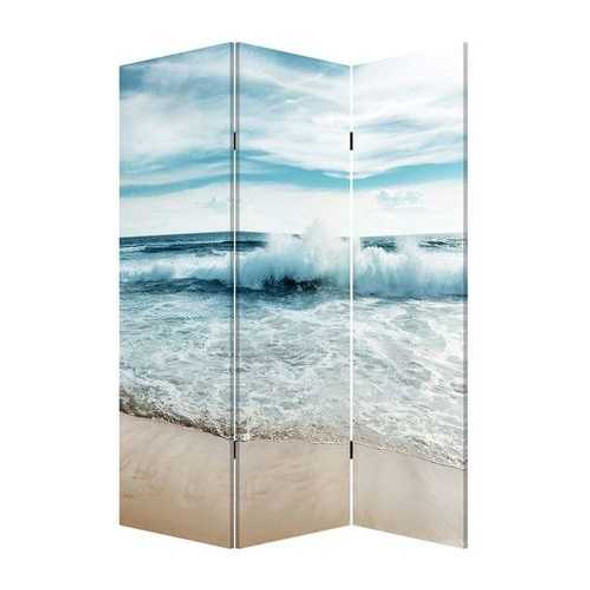 """48"""" x 1"""" x 72"""" Multicolor, Canvas, Surf's Up - 3 Panel Screen"""