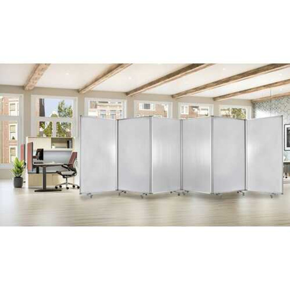 """106"""" x 1"""" x 71"""" White, Metal and PVC Resilient - Screen"""