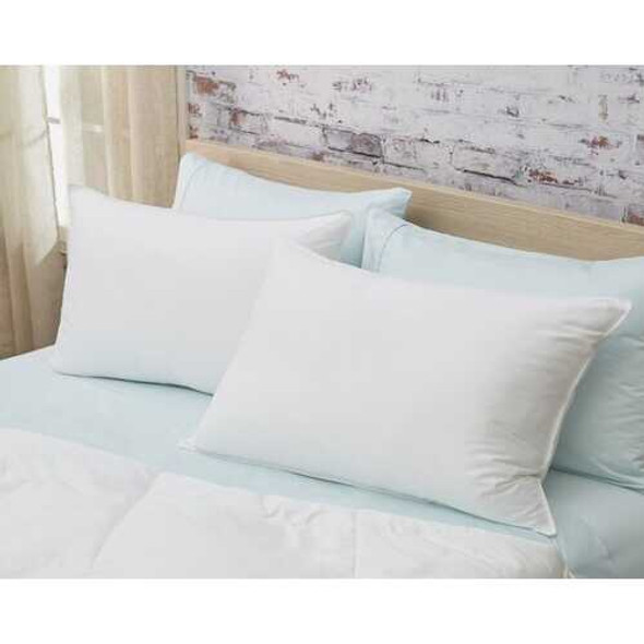 Set of 2 Lux Sateen Down Alternative King Size Firm Pillows