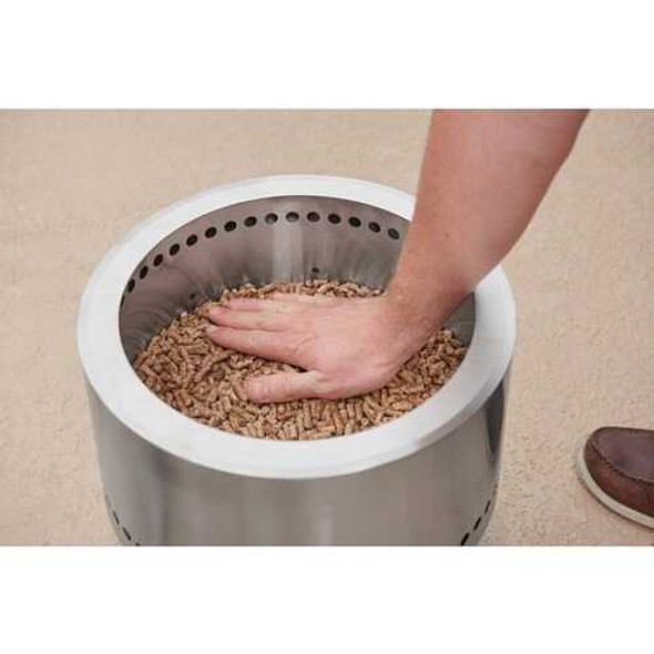 Flame Genie FG-16-SS Wood Pellet Fire Pit (Stainless Steel)