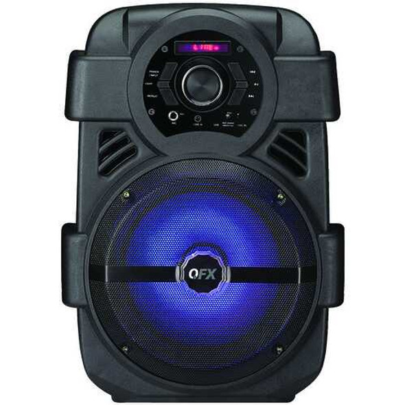 """QFX PBX-8 8"""" Rechargeable Bluetooth Party Sound System"""