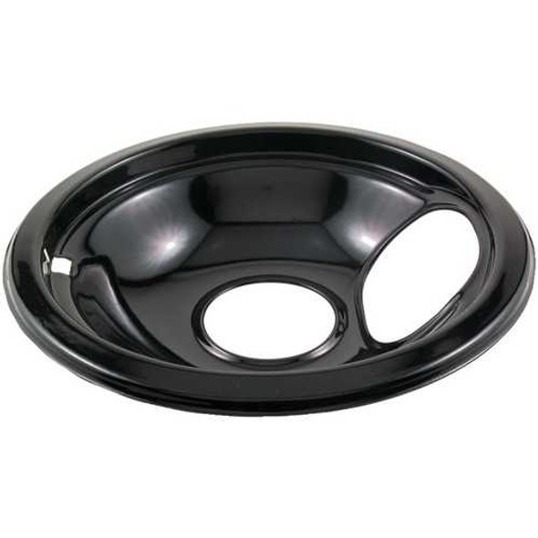 """Stanco Metal Products 415-6 Black Porcelain Replacement Drip Pan (6"""")"""