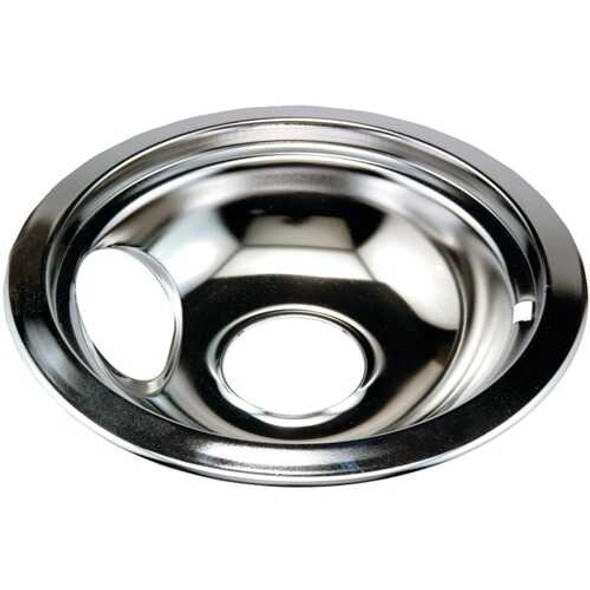 """Stanco Metal Products 751-6 Chrome Replacement Drip Pan for Whirlpool (6"""")"""