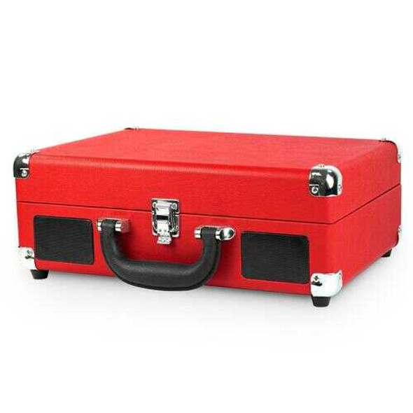 Bluetooth Suitcase Turntable in Red