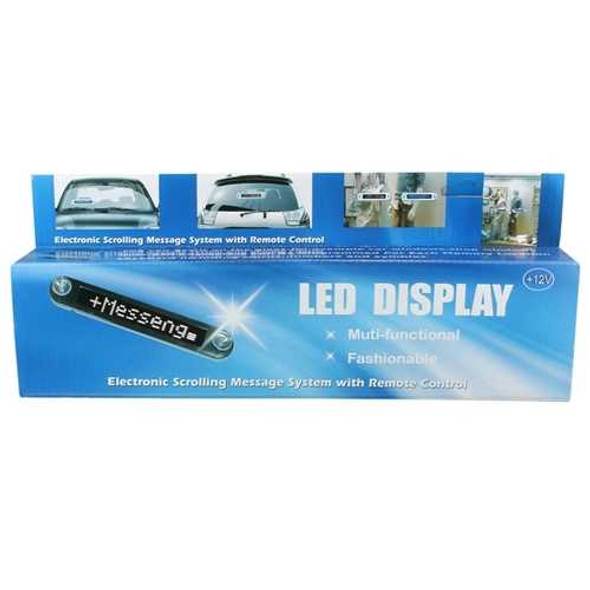 LED Display Programmable Electronic Moving Scrolling Message Sign Remote Control 12V