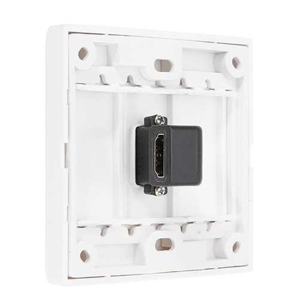 HD 1.4 Wall Plate with Angle Side Female to Female Connector