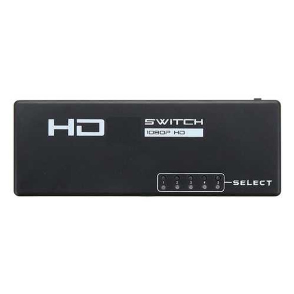 5 Ports 1080P HD 3D Switcher Selector Hub with Remote Controller for TV DVD STB