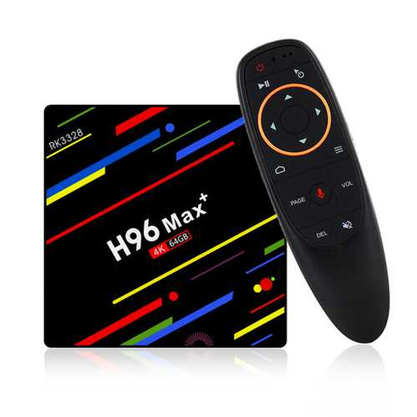 H96 Max Plus RK3328 4G/64G Android 8.1 USB3.0 Voice Control TV Box Support HD Netflix 4K Youtube