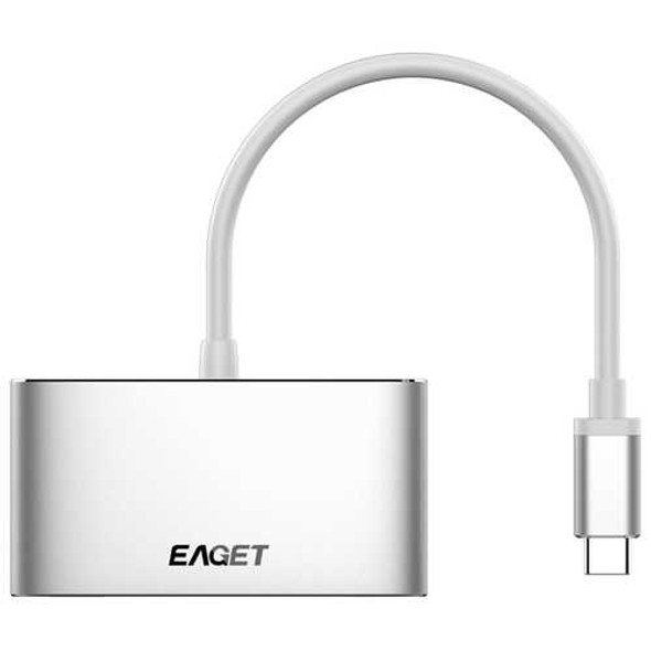 Eaget CH13 3 In 1 Type-C to USB 3.0 HD Type-C  Converter Multifunction HUB For Macbook Tablet PC