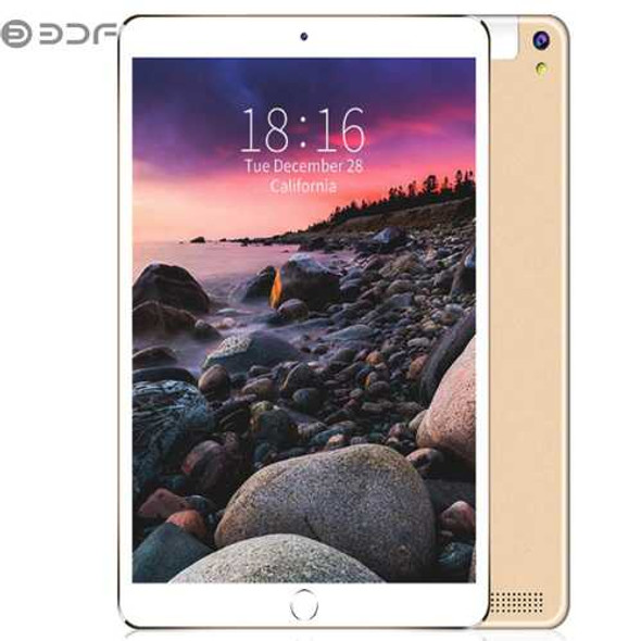 BDF 10.1 inch Tablet Computer MTK 6580 3G / 4G Call Tablet PC Android 7.0 5000mAh Battery Golden_St