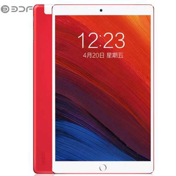 BDF 10.1 inch Tablet Computer MTK 6580 3G / 4G Call Tablet PC Android 7.0 5000mAh Battery red_Stand