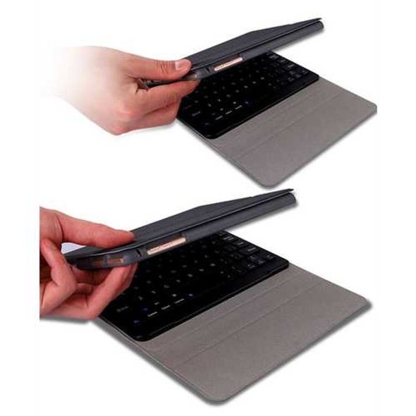 For iPad 10.2 Tablet Touch Keyboard Textured PU Leather Cover Wireless Bluetooth3.0 Connect Overall
