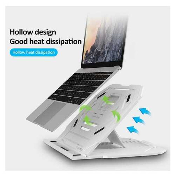 Multi-Angle Adjustment PC Bracket/Holder Rotating Laptop Stand Flexible with Turntable Attach Phone