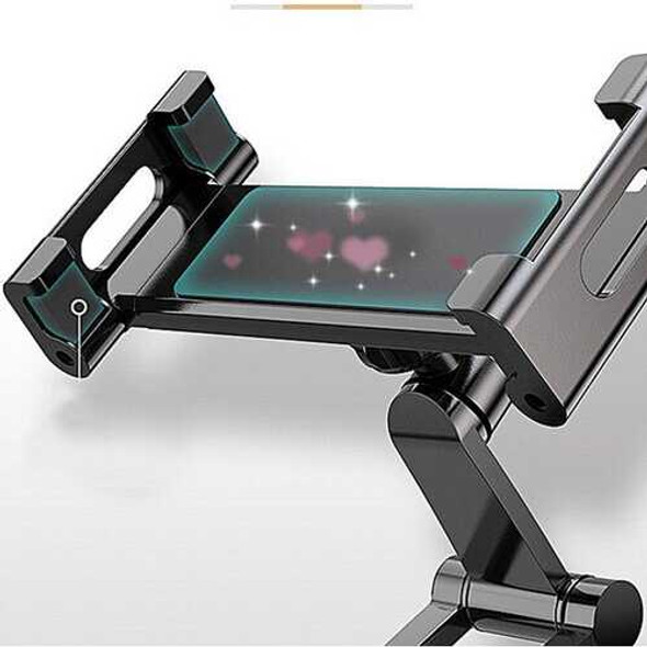 2 in 1 Flexible Lazy Bracket Pull-Up Desktop/Wall Cell Phone Tablet Holder Stand Adjustable Mount b