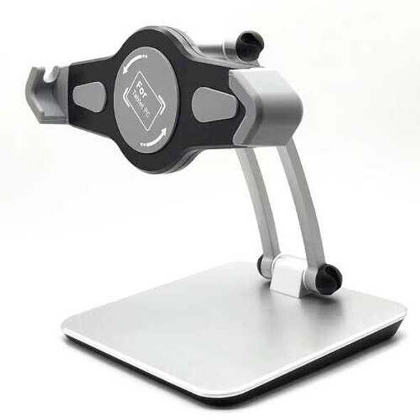 Multi-function Bracket Aluminum Alloy  Suitable for 7-12 Inch Tablet or Mobile Phone Silver