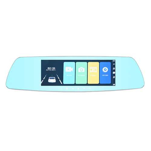 7 Inch Touch Screen Car DVR Vehicle Traveling Data Recorder with Rear Camera