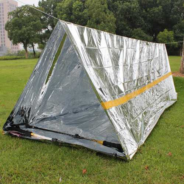 Outdoor 2 Persons Camping Emergency Survival Tent First Aid Sunshade Shelter Rescue Blanket