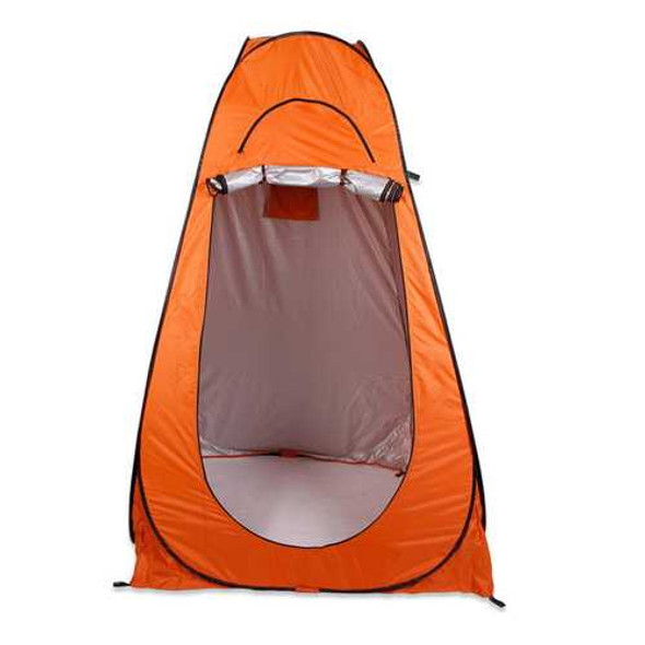 Portable Outdoor 1-2 persons Folding 120 x 120 x 195cm Shower Tent Shelter 2 Window + Bag